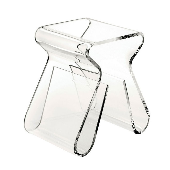 Umbra +  Acrylic Magino Stool Magazine Holder