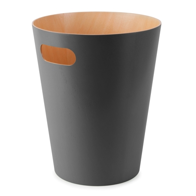 Umbra Woodrow Waste Bin Charcoal