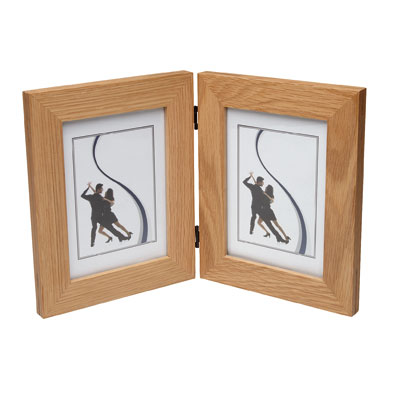 New England Solid Oak Dual Hinged Photo Frame