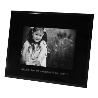 Landscape 6 x 8 Black Bevelled Glass Photo Frame