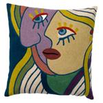 Zaida Picasso Multi Coloured Face Cushion 18""