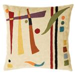 Zaida Kandinsky Cream Abstract Cushion 18""