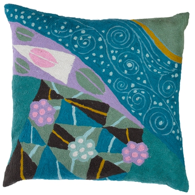Zaida Klimt Peacock Cushion 18""