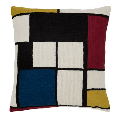 Zaida Mondrian Quadri Art Cushion 24""