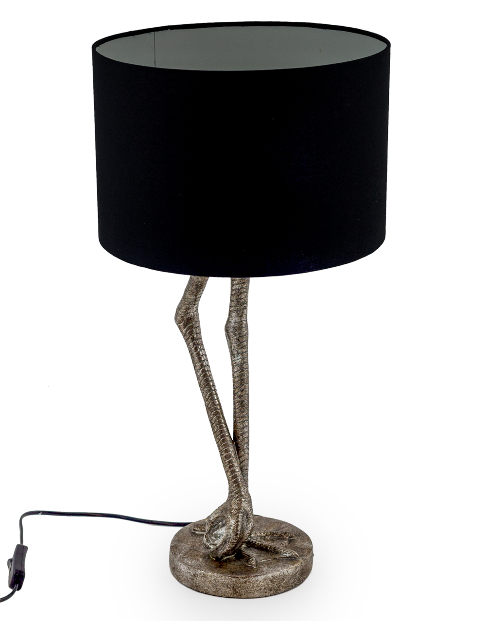 Flamingo Leg Table Lamp Black Shade