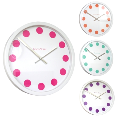 Roco Verre White Coloured Spot Clocks