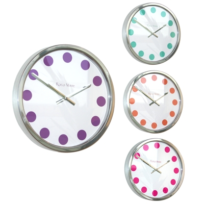 Roco Verre Polished Colour Spot Clocks