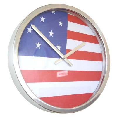 Roco Verre Giant USA Flag Clock