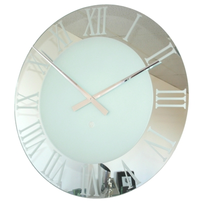 Roco Verre EXTRA LARGE Roman Frosted Clock