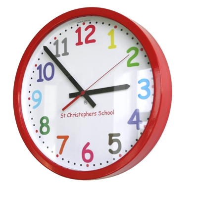 14 Colour Comic Sans Modern Classic School Clock