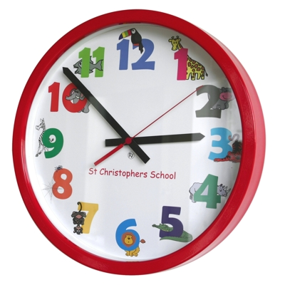 14 Animal Numbers Modern Classic School Clock