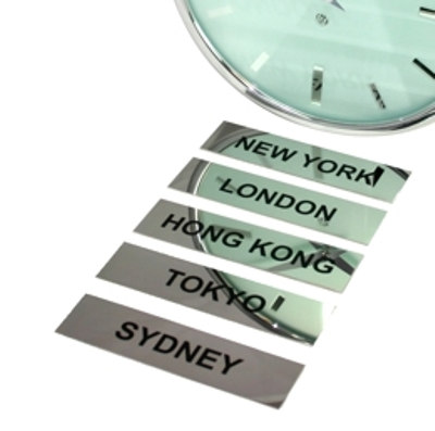 5 x Polished Stainless Steel City Signs
