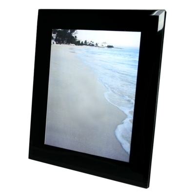 BLACK Bevelled Glass Photo Frame