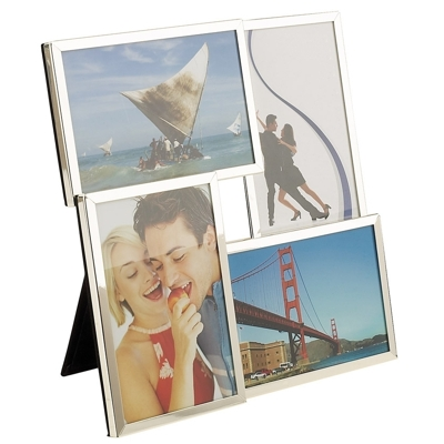 Jackson Silver Plated 3D Four Picture Photo Frame
