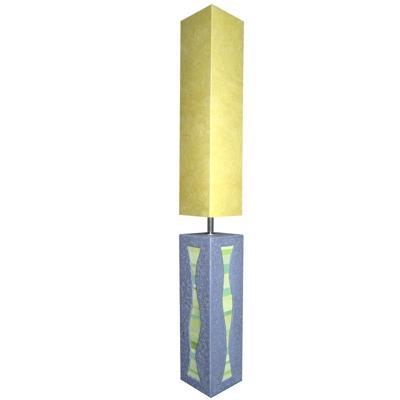 Alain GuimotYellow Concrete, Leather and Silk Lamp