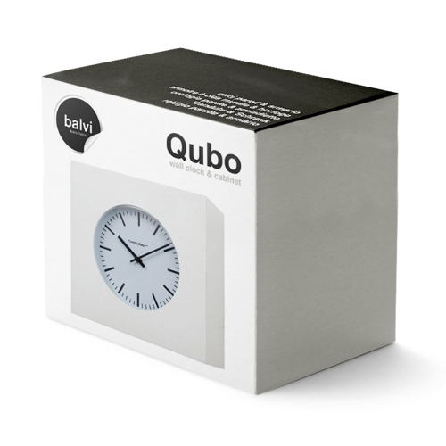gift box for white cube wall clock