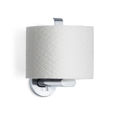 Blomus Areo Brushed steel Spare Toilet Roll Holder with toilet roll