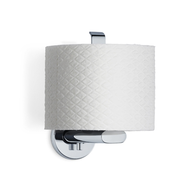 Blomus Areo Polished steel Spare Toilet Roll Holder and toilet roll