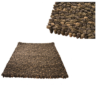 Chocolate Pebble Rug