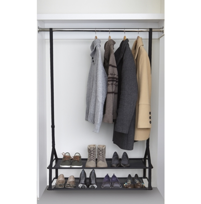 Umbra Shoester Adjustable Closet Organiser Black In Situ ...