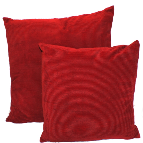 two red cushions