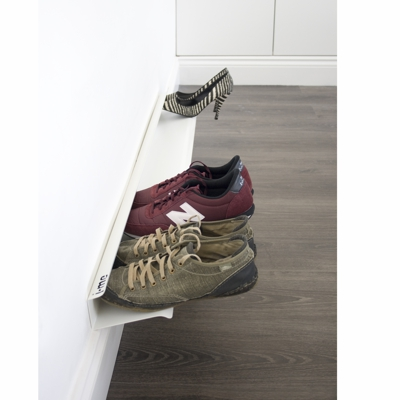 J Me Floating Shoe Rack White In Situ