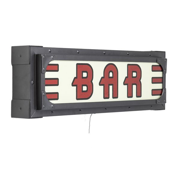 side view Kare Vintage Wall Light Auto Bar Sign UK