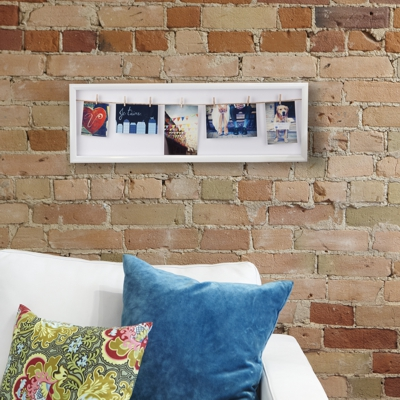 Umbra Clothesline Flip Photo Display White In Situ