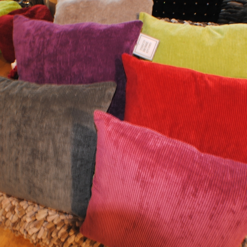 six cushions in different colurs