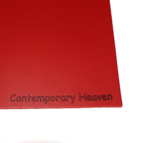 branded leather personalised custom placemats