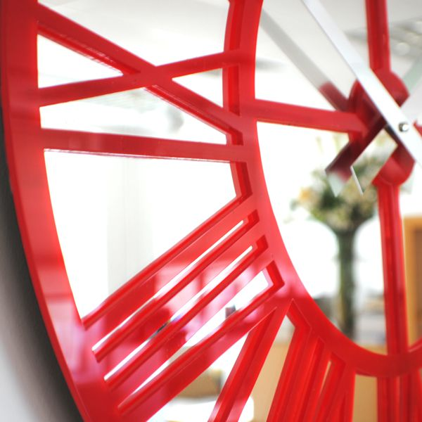 red-close-up-gloss-skeleton-wall-clock