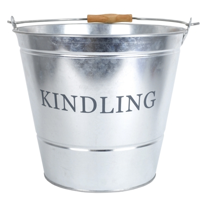 Galvanised Kindling Fireside Buckets