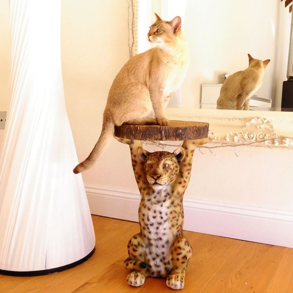 cat and Leopard Side Table