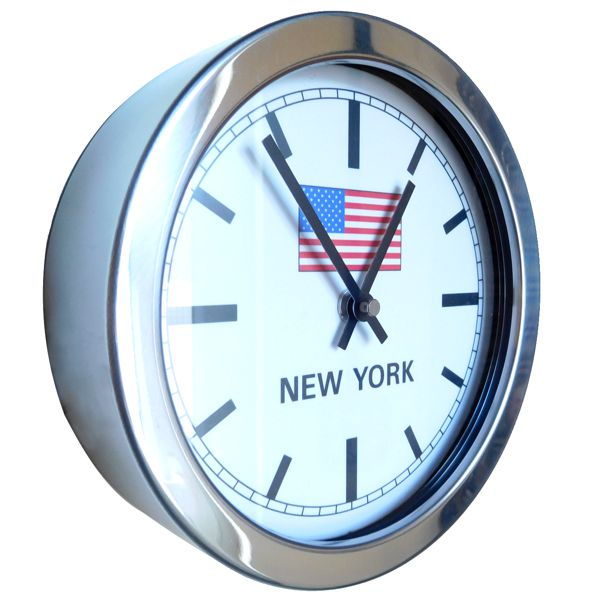 side view of union jack flag wall clock