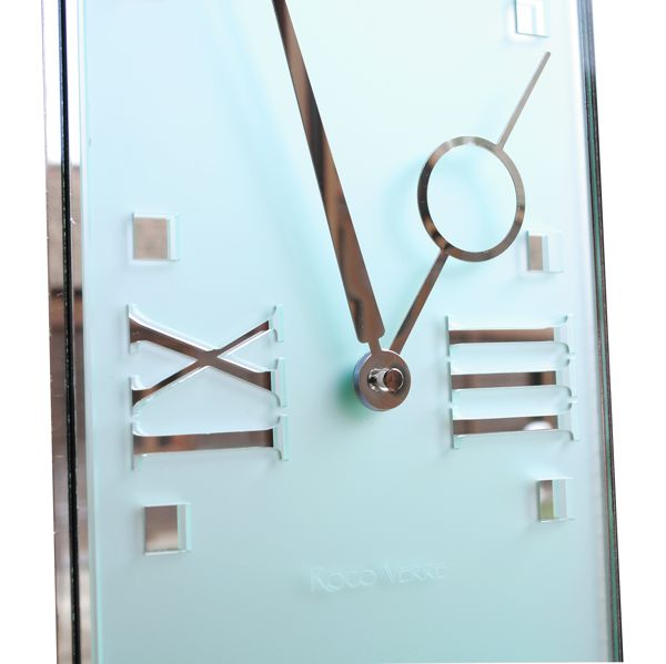 Close up Frosted Deco Modern Pendulum Wall Clock
