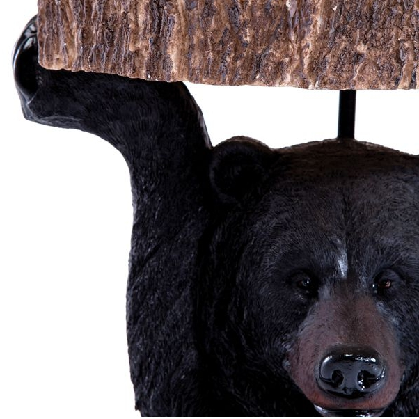 Close up Black Bear Side Table holding table