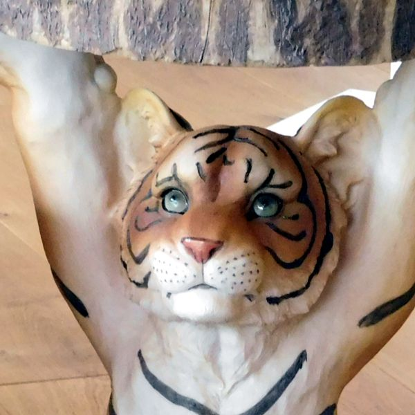 close up tiger Side Table