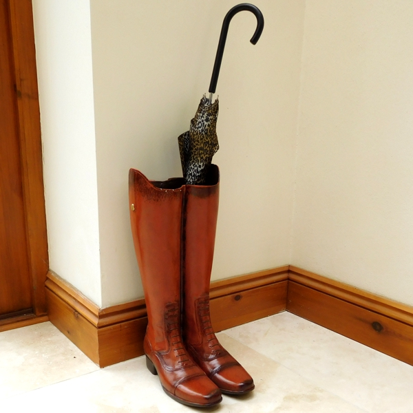 Riding Boots Umbrella Stand Vase with umbrella