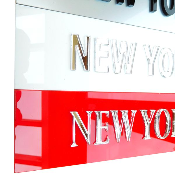 red Personalised Time Zone Sign Plaques