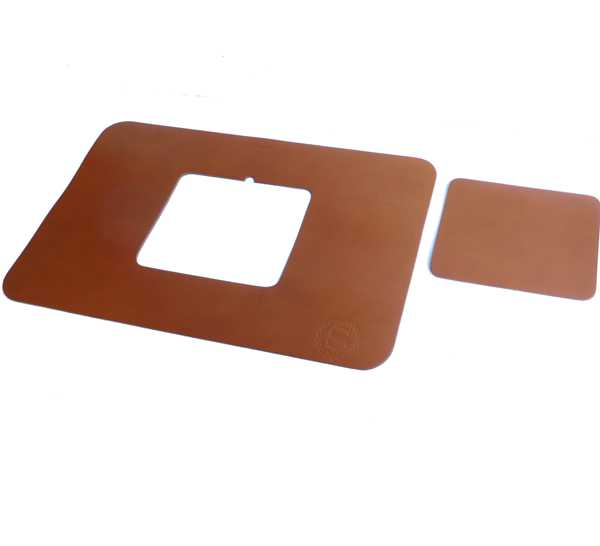 tan Extra Large Luxury Leather Desk Mat Laptop Pad