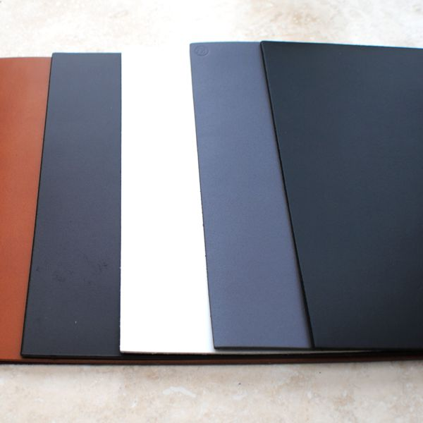 colours real leather placemats