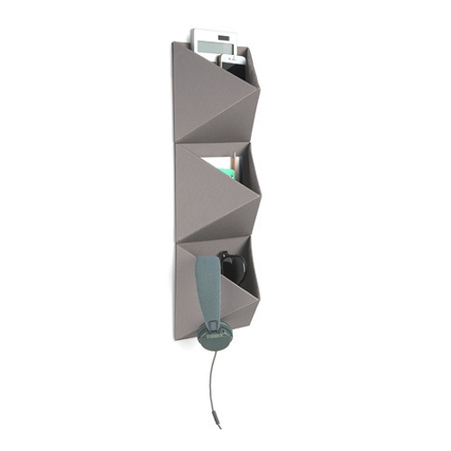 Umbra Trifold Wall Storage Grey In Use