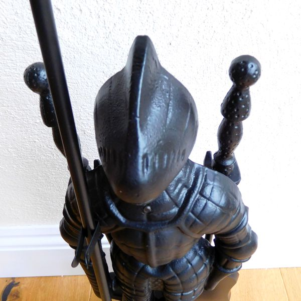 close up English Knight Fireside Tool Companion Set