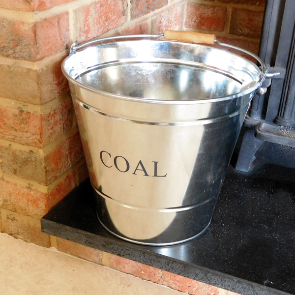 coal bucket nex to fire