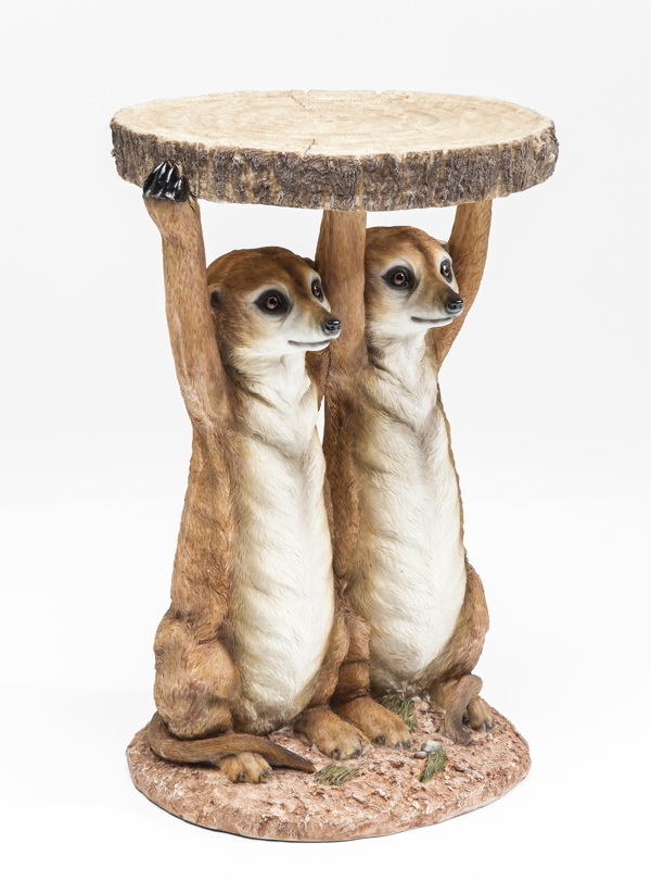 side view of Meerkat Sisters Side Table