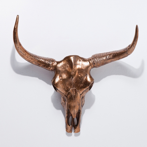 In Situ Kare Skull Wall Decor Trophy Head Copper