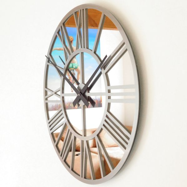 silver-gloss-skeleton-mirror-wall-clock