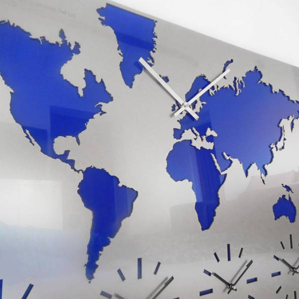 time zone clock map with logo