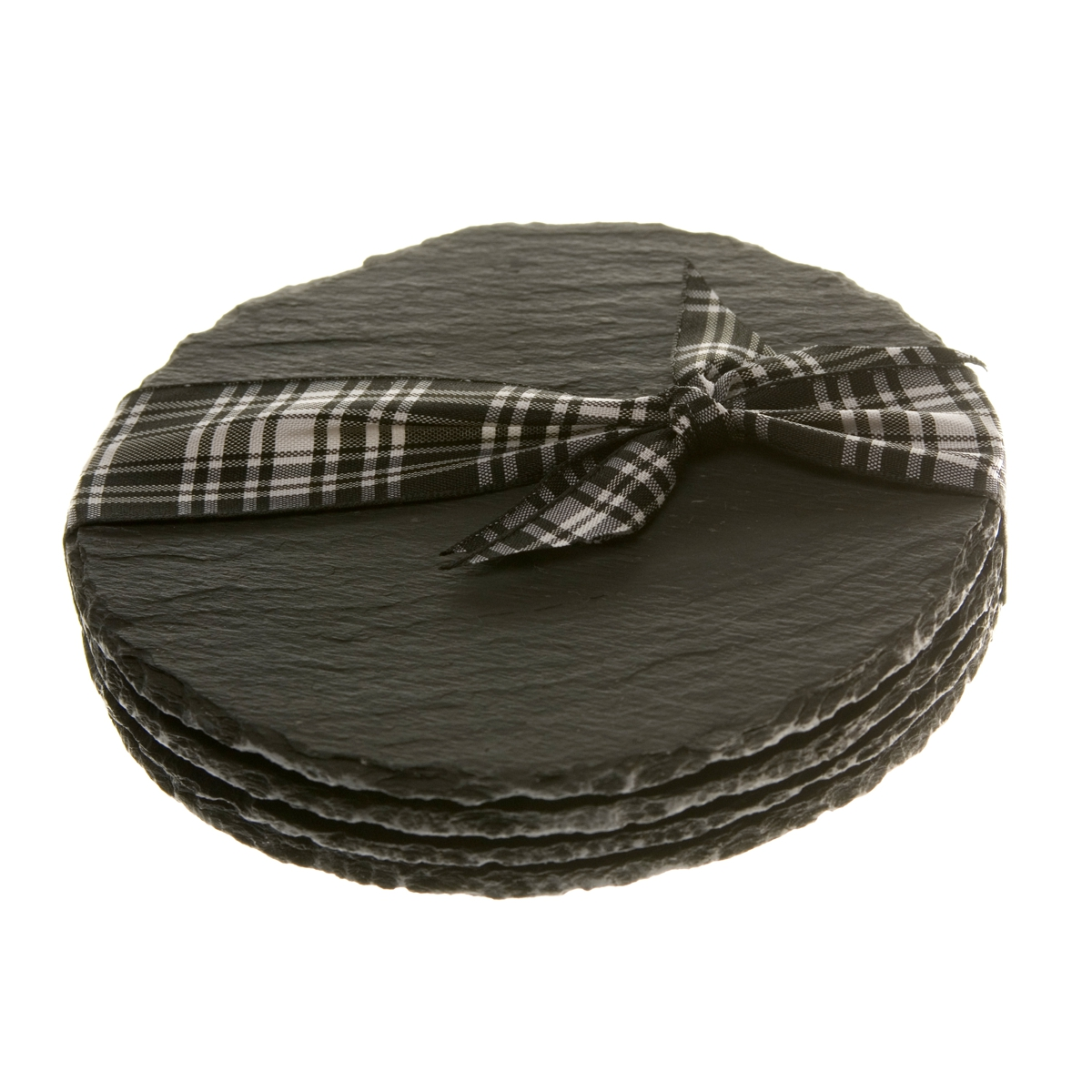 Natural Hand Cut Round Slate Coasters