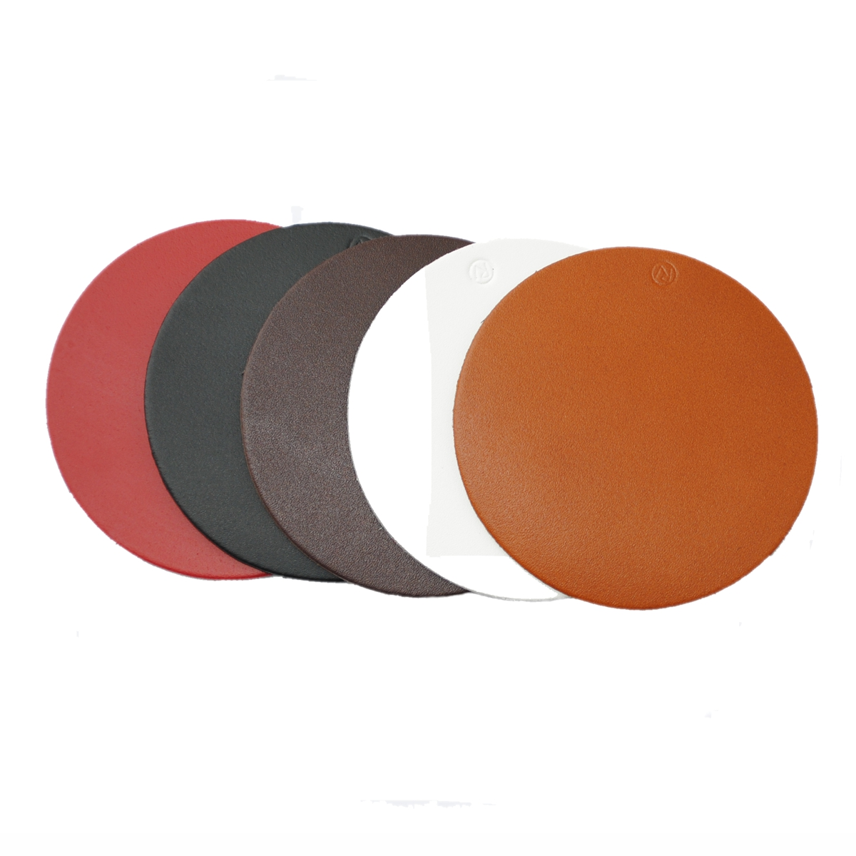 Real Leather Hide ROUND Coasters